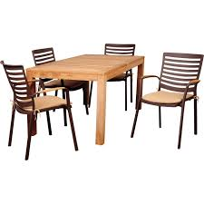 amazonia clemente 4 person cast aluminum patio dining set with amazonia sc rinjrec 4clem clemente 4 person eucalyptus patio rectangular dining set w aluminum stacking dining arm chairs