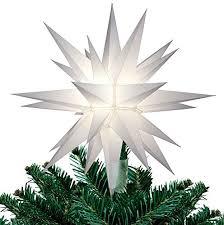 light up star of bethlehem new 12 white lighted star lit christmas tree topper 26 point star of