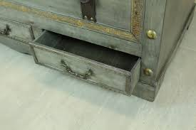 rustic grey coffee table rustic gray large wooden storage trunk coffee table with two
