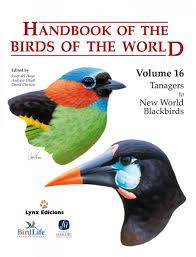 handbook of the birds of the world volume 16 tanagers to new