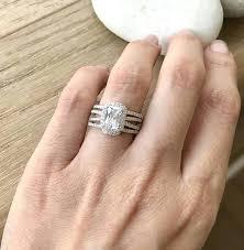 emerald cut wedding set emerald cut wedding ring set juliannes emerald cut cz