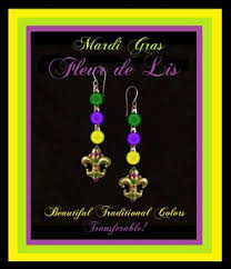 mardi gras earrings second marketplace mardi gras masquerade earrings