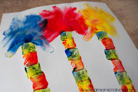 lorax trees finger painting art a mom u0027s take