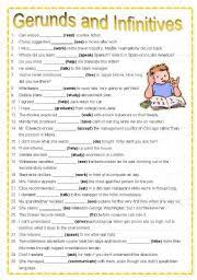 english teaching worksheets gerunds and infinitives