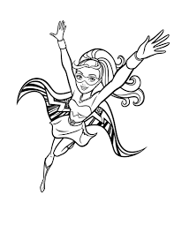 barbie in princess power coloring pages to download and print for free