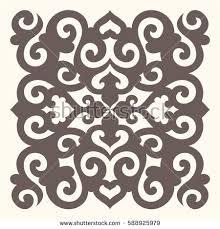 ornamental square design eastern style stock vector