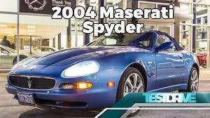 maserati gransport convertible 2004 maserati spyder testdrive youtube