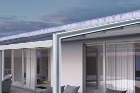 Outdoor Design by Aluminium Pergola With Built In Lights Vega By Ke Outdoor Design