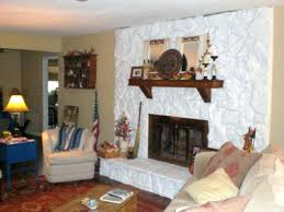 White Washed Stone Fireplace Life by Living Room With Castle Path Walls Paint Stone Fireplace Surround