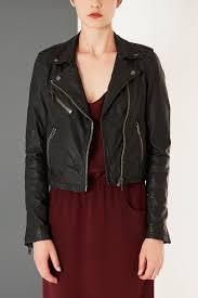 black leather biker jacket shrunken leather biker jacket by boutique wishlist pinterest