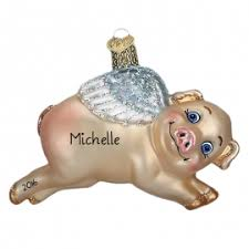 pig ornaments gifts personalized ornaments for you