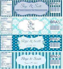 water bottle labels now with templates wedding blue diy navy