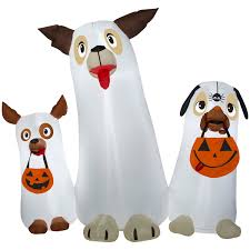 halloween inflatable ghost airblown inflatable ghost dogs trio scene long lasting led