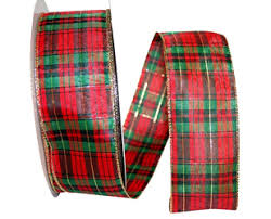 wired christmas ribbon christmas ribbon plaid checked striped