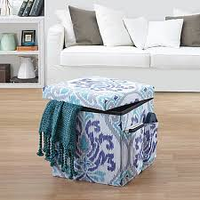 anthology jolie folding ottoman in blue bed bath u0026 beyond