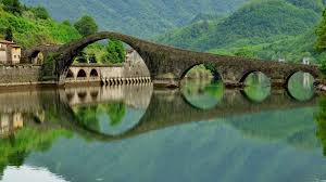 nature lake reflections wallpapers nature landscape architecture italy bridge old bridge arch