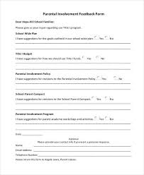 sample parent feedback forms 8 free documents in word pdf