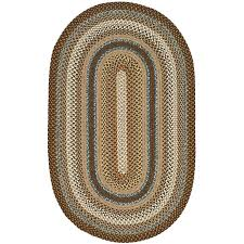 braided rug safavieh woven reversible brown braided rug 8 x 10 oval