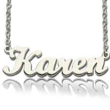 Name Engraved Necklace Custom Nameplate Necklace Cheap