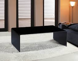 Glass Waterfall Coffee Table Arch Waterfall Bent Black Glass Coffee Table