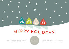business cards snowing merry holidays at minted