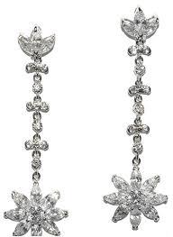 Sparkly Chandelier Earrings Lowell Cz Dangle Flower Chandelier Earrings Cubic Zirconia