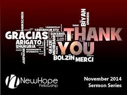 thank you the power of gratitude sermon 11 2 14