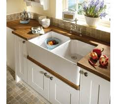 Double Kitchen Belfast Sink Classic White Ceramic Includes Free - Belfast kitchen sink