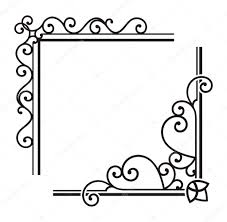 exquisite corner ornamental designs stock vector clipart
