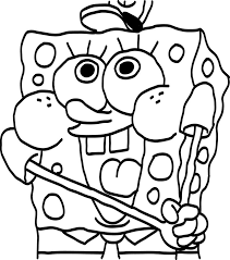 spongebob coloring pages printable squarepants colouring of kids