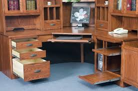 solid wood corner computer desk with hutch amish large corner computer desk hutch bookcase home office solid