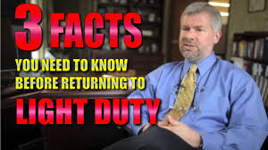 Workers Compensation Light Duty Policy Workers U0027 Compensation 3 Facts You Need To Know Before Returning