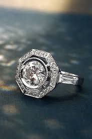 deco engagement ring 24 deco engagement rings for fantastic look oh so