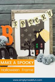 halloween picture frame crafts how to make a spooky halloween frame