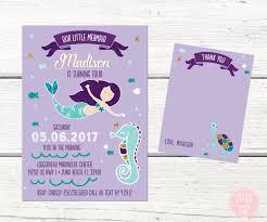 our little mermaid party invitation mermaid invitation kit