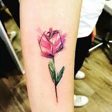 black and white tulip tattoo design