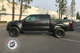 truck ford raptor satin black ford raptor wrap wrap bullys
