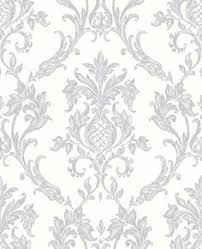 wallpaper damasks and scrolls silver and grey satin silver