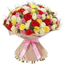 Different Color Roses Bouquet Of Different Color Roses With Delivery To Cyprus In