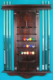 pool table wall rack solid oak wood pool table billiard cue wall rack cherry acc