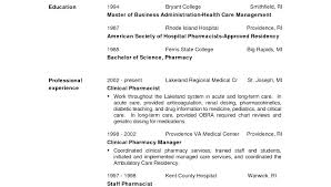 hospital resume exles resume exles for pharmacy technician