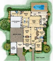 villa barbaro courtyard house plan best selling house plan