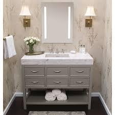 Metal Framed Bathroom Mirrors by Ronbow 601324 Sa Contempo Metal Framed Bathroom Mirror In Satin