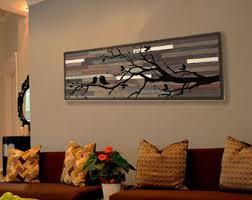 reclaimed wood wall decor lath pattern geometric 19 x