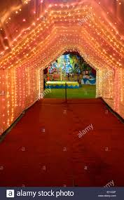 indian marriage light decoration sirohi rajasthan india asia stock