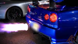 nissan skyline nissan skyline gtr r34 anti lag launches youtube