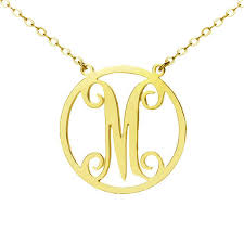 monogram necklace sterling silver online get cheap monogrammed necklaces sterling silver aliexpress