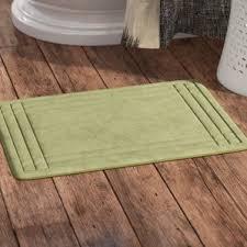 Wash Bathroom Rugs Green Machine Wash Bath Rugs Mats You Ll Wayfair