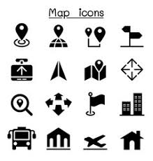 map pointer with bus icon royalty free vector image