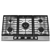 kitchen attractive stainless steel 5 burner downdraft stove tops